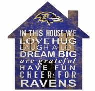 "Baltimore Ravens 12"" House Sign"