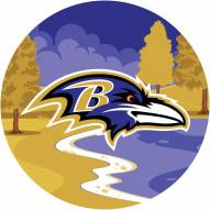 "Baltimore Ravens 12"" Landscape Circle Sign"