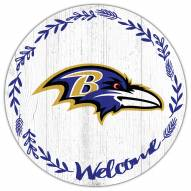 "Baltimore Ravens 12"" Welcome Circle Sign"