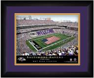 Baltimore Ravens 13 x 16 Personalized Framed Stadium Print