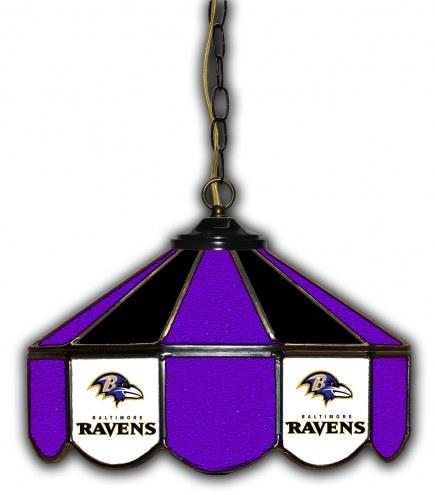 "Baltimore Ravens 14"" Glass Pub Lamp"