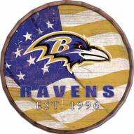 "Baltimore Ravens 16"" Flag Barrel Top"