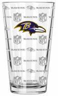 Baltimore Ravens 16 oz. Sandblasted Pint Glass