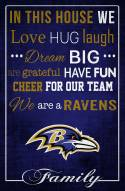 "Baltimore Ravens 17"" x 26"" In This House Sign"