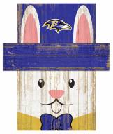 "Baltimore Ravens 19"" x 16"" Easter Bunny Head"