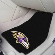 Baltimore Ravens 2-Piece Carpet Car Mats