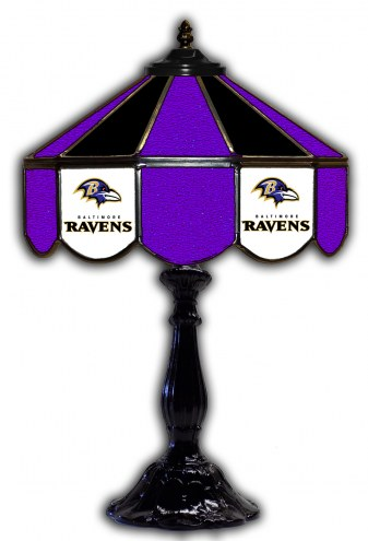 "Baltimore Ravens 21"" Glass Table Lamp"
