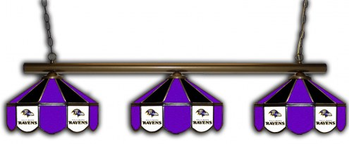 Baltimore Ravens 3 Shade Pool Table Light