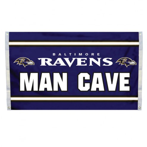 Baltimore Ravens 3' x 5' Man Cave Flag