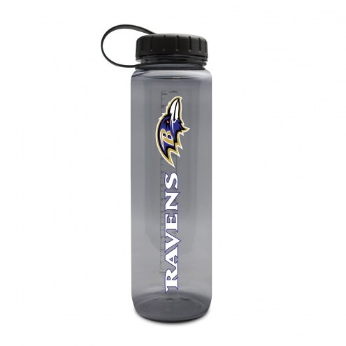 Baltimore Ravens 32 oz. Clear Plastic Water Bottle