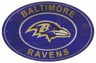 "Baltimore Ravens 46"" Heritage Logo Oval Sign"