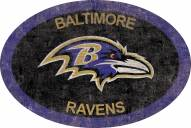"Baltimore Ravens 46"" Team Color Oval Sign"