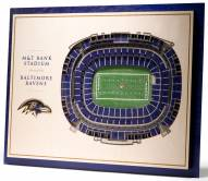 Baltimore Ravens 5-Layer StadiumViews 3D Wall Art