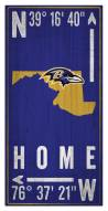 "Baltimore Ravens 6"" x 12"" Coordinates Sign"
