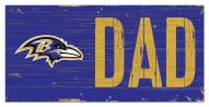 "Baltimore Ravens 6"" x 12"" Dad Sign"