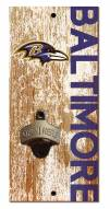 "Baltimore Ravens 6"" x 12"" Distressed Bottle Opener"