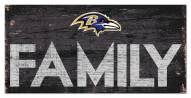 "Baltimore Ravens 6"" x 12"" Family Sign"