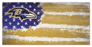 "Baltimore Ravens 6"" x 12"" Flag Sign"