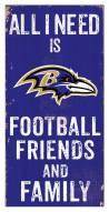 "Baltimore Ravens 6"" x 12"" Friends & Family Sign"