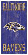 "Baltimore Ravens 6"" x 12"" Heritage Logo Sign"
