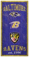 "Baltimore Ravens 6"" x 12"" Heritage Sign"