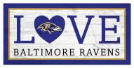 "Baltimore Ravens 6"" x 12"" Love Sign"
