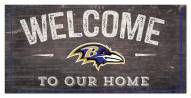 "Baltimore Ravens 6"" x 12"" Welcome Sign"