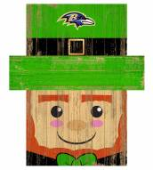 "Baltimore Ravens 6"" x 5"" Leprechaun Head"