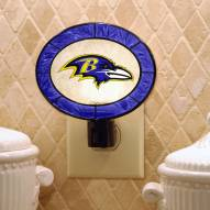 Baltimore Ravens Art Glass Night Light