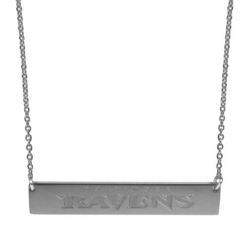 Baltimore Ravens Bar Necklace