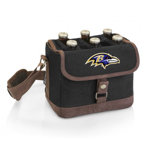 Baltimore Ravens Beer Caddy Cooler Tote with Opener
