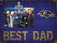Baltimore Ravens Best Dad Clip Frame