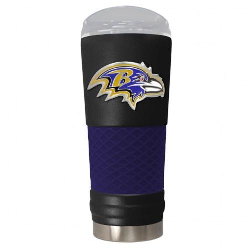 Baltimore Ravens Black 24 oz. Powder Coated Draft Tumbler
