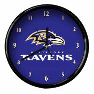 Baltimore Ravens Black Rim Clock