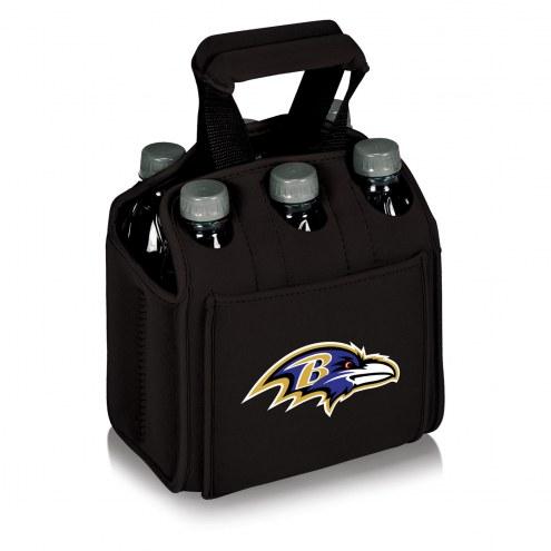 Baltimore Ravens Black Six Pack Cooler Tote