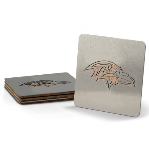 Baltimore Ravens Boasters Stainless Steel Coasters - Set of 4