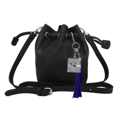 Baltimore Ravens Charming Mini Bucket Bag