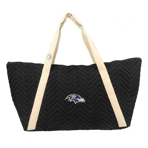 Baltimore Ravens Chevron Stitch Weekender Bag