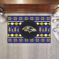 Baltimore Ravens Christmas Sweater Starter Rug