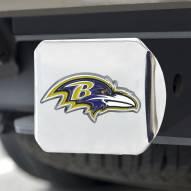 Baltimore Ravens Chrome Color Hitch Cover
