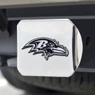 Baltimore Ravens Chrome Metal Hitch Cover