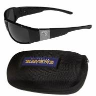 Baltimore Ravens Chrome Wrap Sunglasses & Zippered Carrying Case