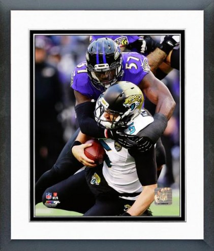 Baltimore Ravens C.J. Mosley Action Framed Photo