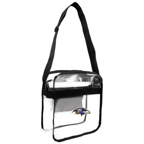 Baltimore Ravens Clear Crossbody Carry-All Bag
