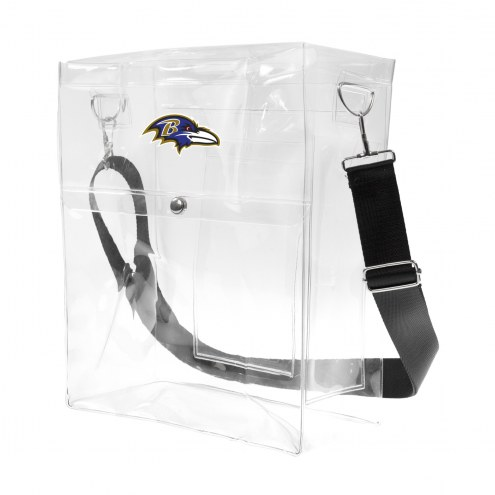 Baltimore Ravens Clear Ticket Satchel