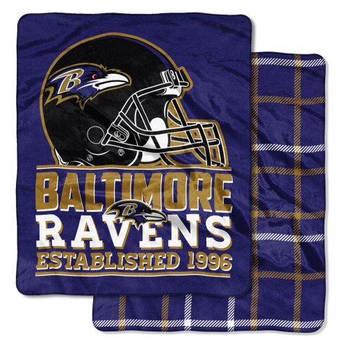 Baltimore Ravens Cloud Throw Blanket