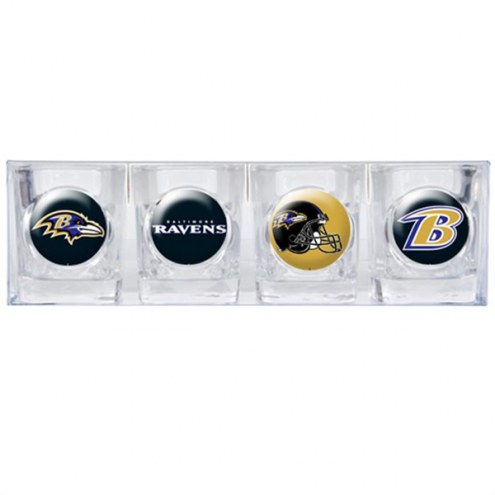 Baltimore Ravens Collector's Shot Glass Set