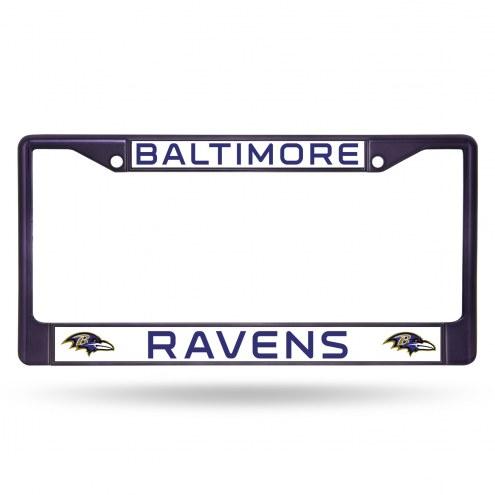 Baltimore Ravens Color Metal License Plate Frame