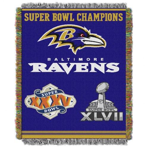 Baltimore Ravens Commemorative Throw Blanket