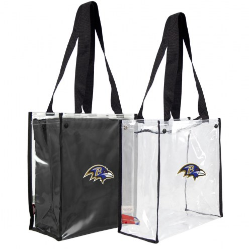 Baltimore Ravens Convertible Clear Tote
